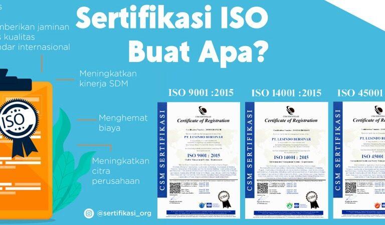 Jasa Pembuatan Sertifikat ISO